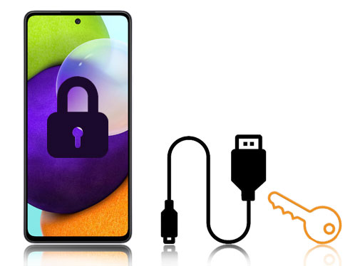 how to access a locked android phone via usb