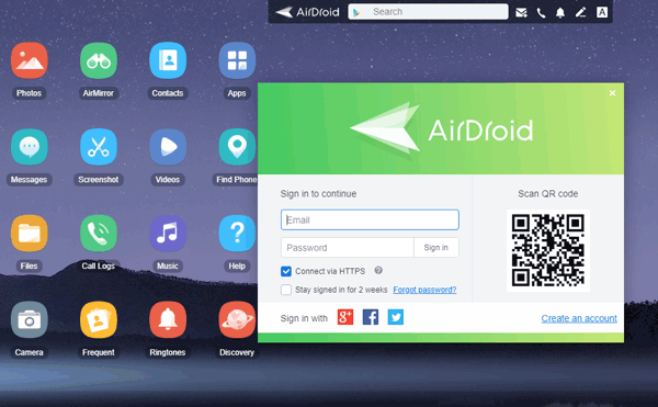 transfer android files with remote android desktop manager