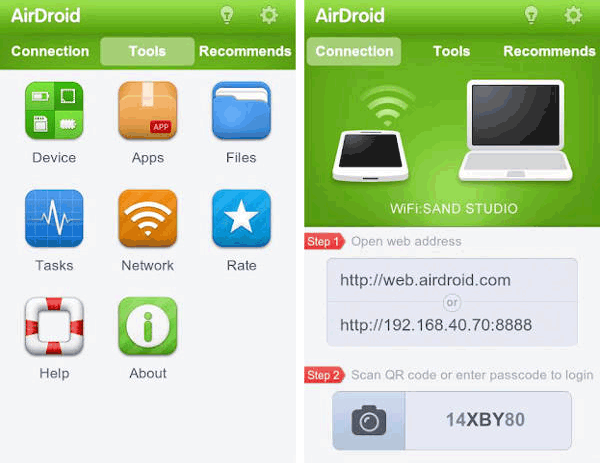 transfer samsung files wirelessly with airdroid