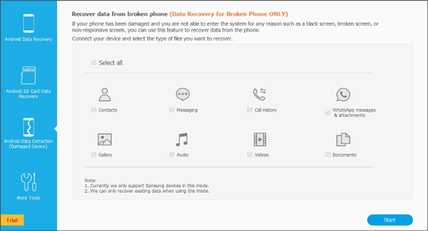 airmore android data recovery program