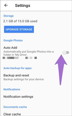 backup pictures for android via google drive