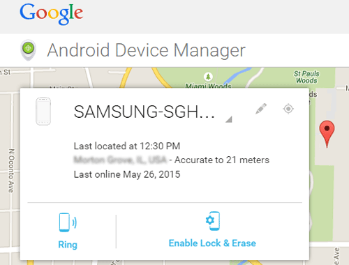 track android phone with android device manager