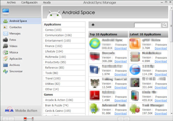 sync software for android