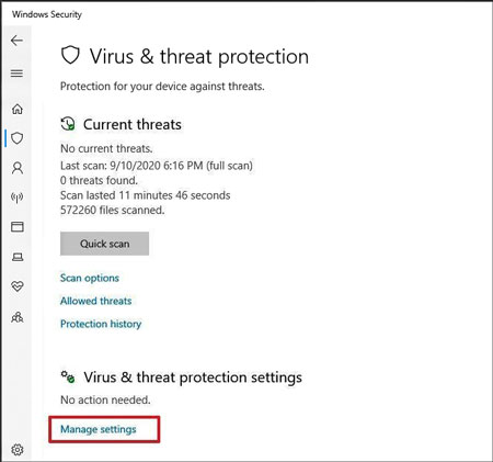 disable the antivirus protection on windows for installing samsung kies