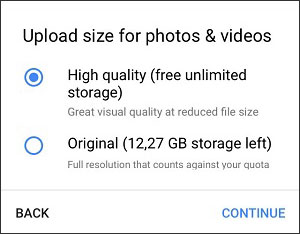 auto backup photos android