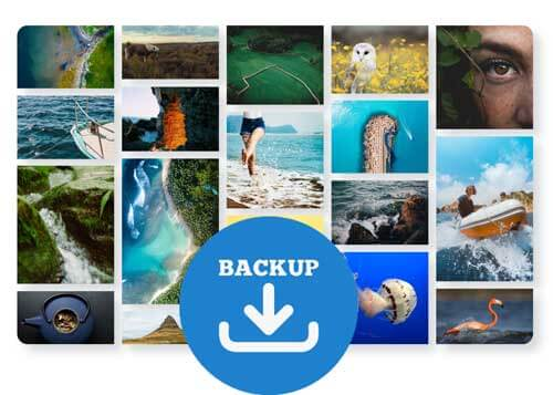 backup photos to avoid losing