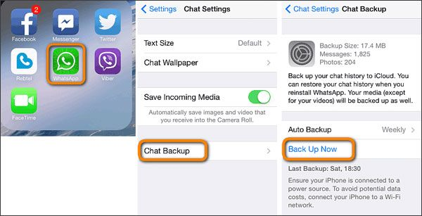 move whatsapp messages from iphone to iphone with icloud backup