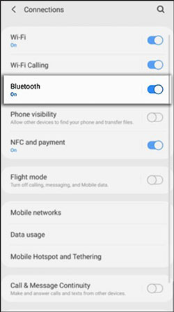 send files from huawei to samsung with bluetooth