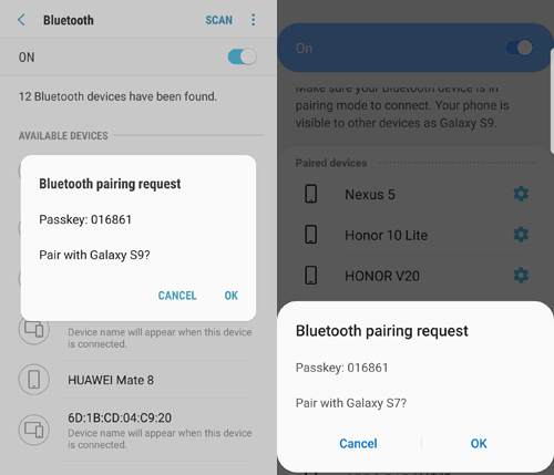 how to transfer data from samsung to huawei p40 p40 pro via bluetooth
