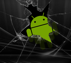 a broken android screen
