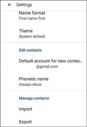 find disappeared contacts from google pixel via contact settings