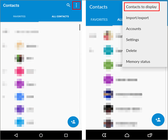 check if you lost your contacts on android