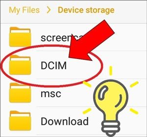 where is the dcim folder on android