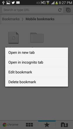 remove bookmarks from android