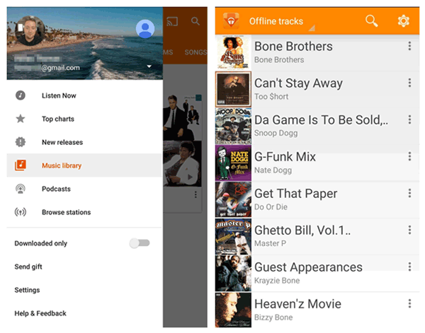 how to transfer music from android to android with google play music