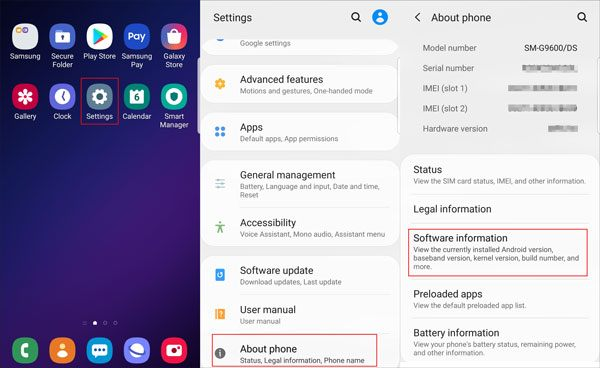 enable usb debugging on the galaxy phone
