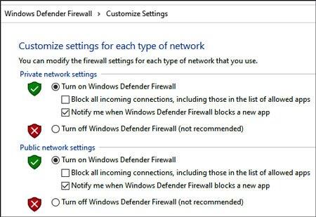 turn off the firewall to install samsung kies on windows 10