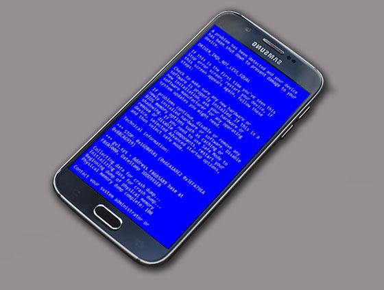 how do i fix the blue screen of death on my android