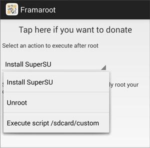 root samsung device via framaroot