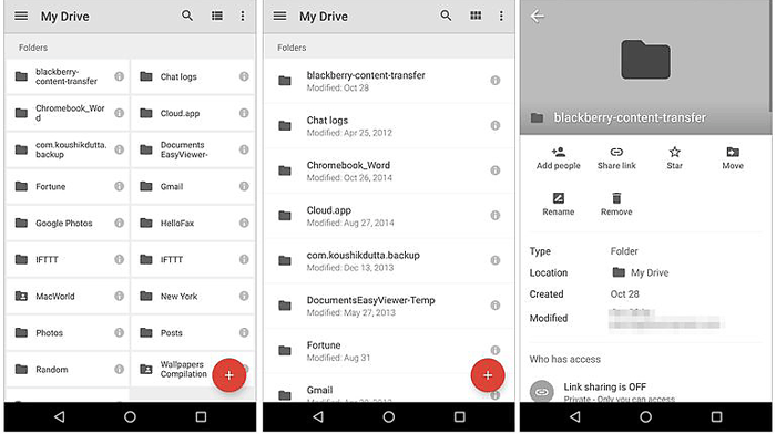 backup android files with google drive