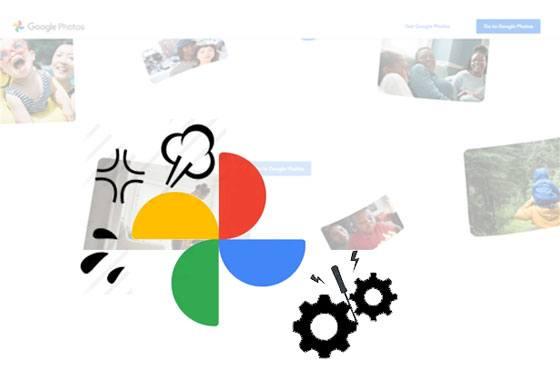 fix google photo backup stuck