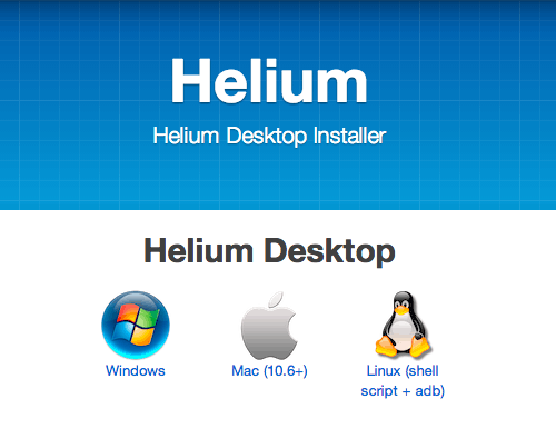 backup android files with helium