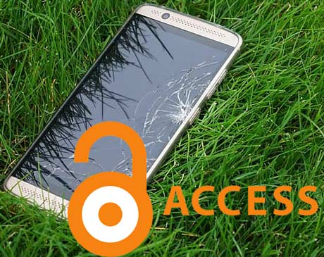 how to access phone with broken screen