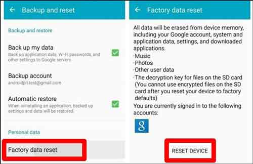 how to delete everything on samsung phone with factory reset