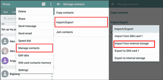 how to get contacts from iphone to android with itunes
