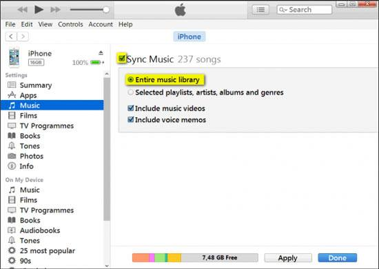how to transfer music from android to iphone via itunes