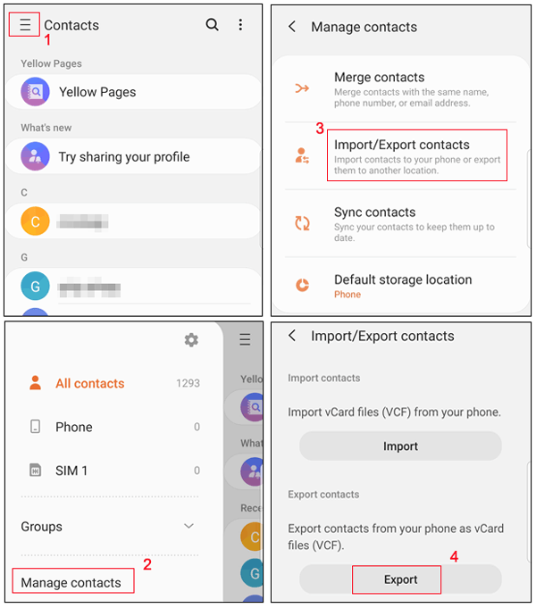 how to move contacts from android to iphone via a vcf file