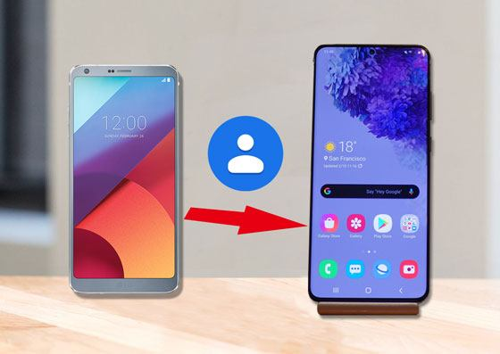 how to transfer contacts from lg to samsung