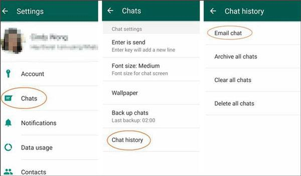 how to transfer whatsapp chats from android to iphone with email chat