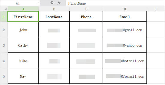 import csv contacts to android phone