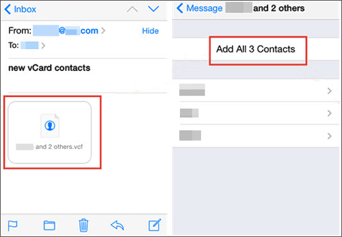 import contacts from motorola to iphone via a vcf file