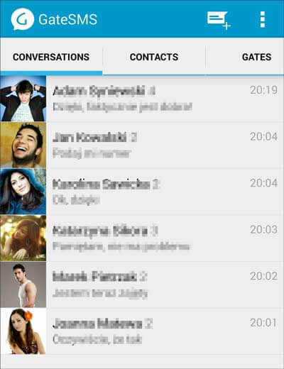 sms mnager for android - gatesms