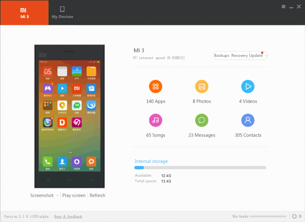transfer files with mi pc suite