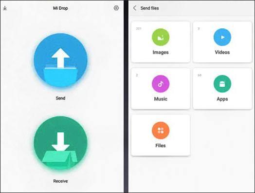 transfer iphone files to xiaomi with mi drop