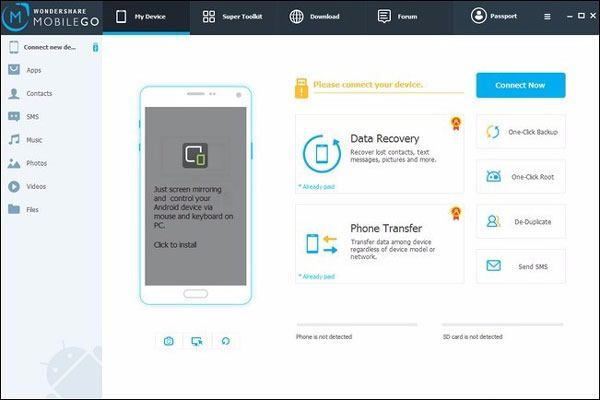 use a mobile transfer tool to move data