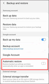 restore data after factory reset on android using google drive
