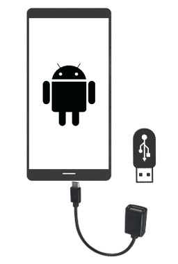 transfer photos from android to usb via a usb cable adaptor
