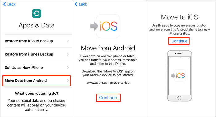 use move to ios to copy data from oppo to iphone