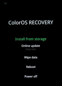 remove pattern lock on oppo via factory reset