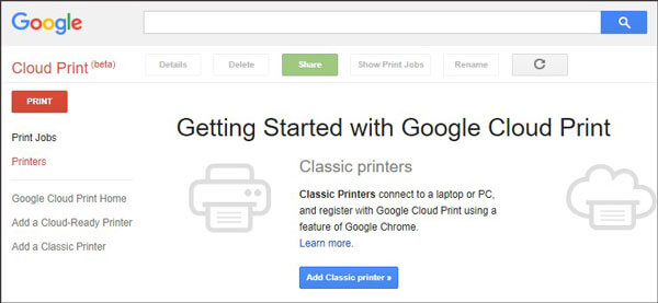 print phone contacts with google cloud print