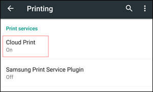 print my contact list with cloud print