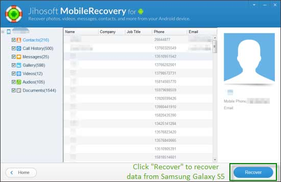 mobile contact recovery software