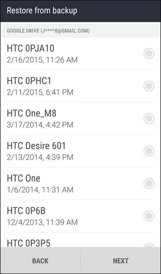 recover deleted data from htc via htc backup
