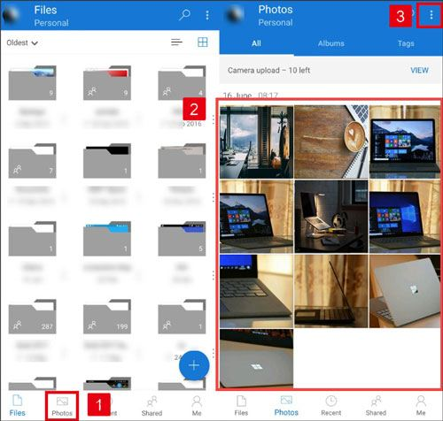 undelete lost photos from onedrive backups
