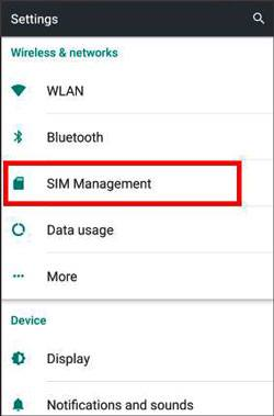 delete sim card data on settings app