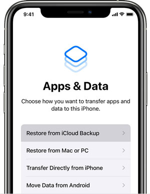clone an iphone to another iphone via icloud